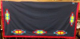 "Vintage Native American Regalia Womens Dark Blue Shawl 61"" x 58"" Pawnee ... - $129.99"