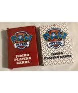 2014 Nickelodeon PAW PATROL JUMBO PLAYING CARDS. 2 Decks. Character Imag... - $9.74