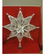 NEW HOLIDAY TIME  8'' STAR INCADESCENT WHITE LIGHTS  CHRISTMAS Tree Topper  - $16.82