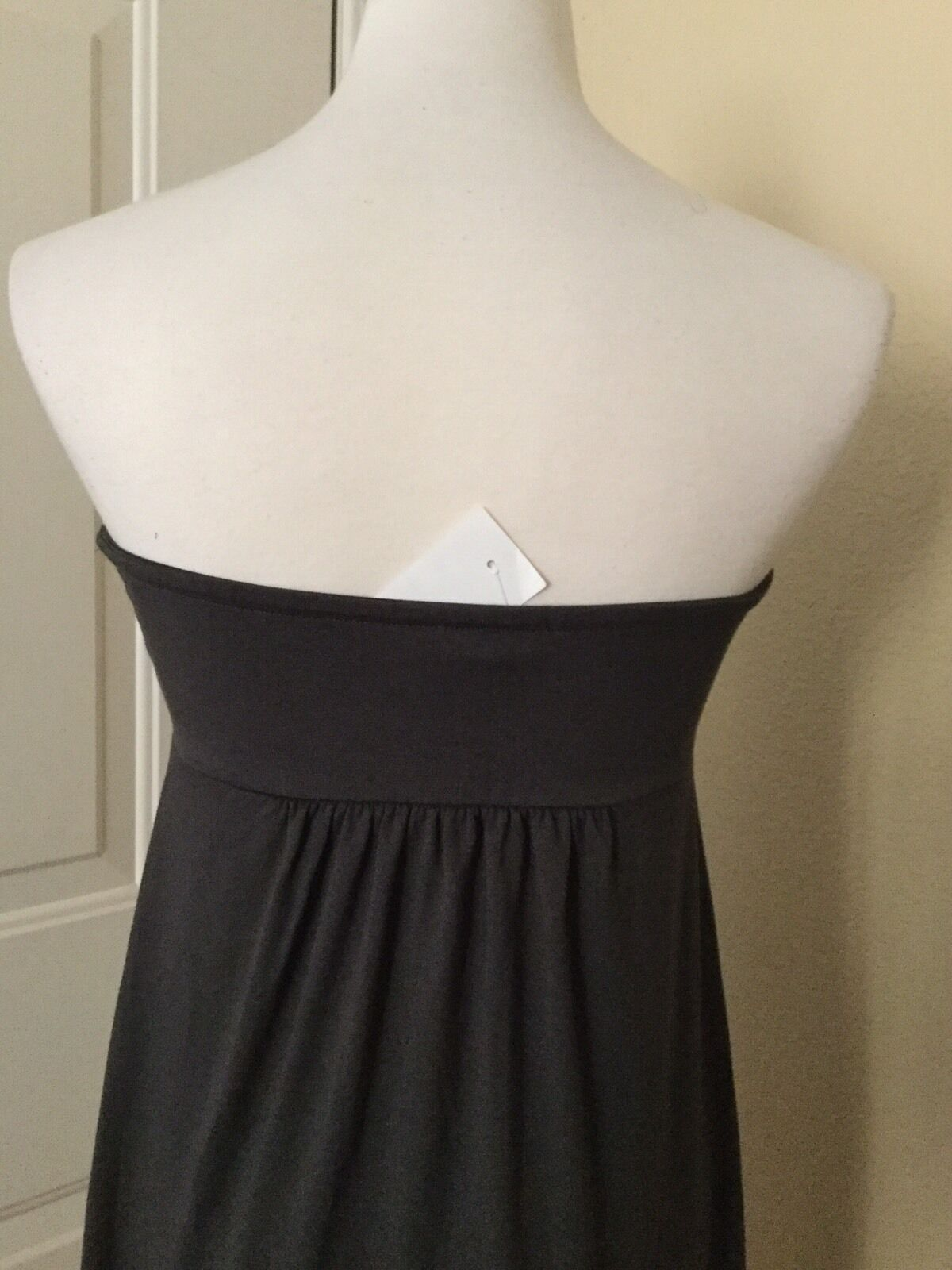 NWT J.CREW Dressy Jersey Strapless Dress in Gray, Size Small image 3