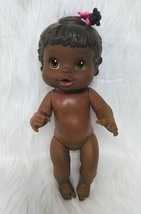 "13"" Baby Alive Doll Drink & Wet African American Pink Bow Ponytail Posea... - $16.99"