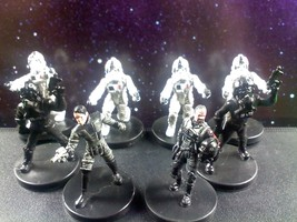 LOT - Star Wars Miniatures Imperial Pilot Squad Baron & Jagged Fel - w/ Cards - $31.88