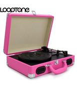 Battery Powered Portable 3-Speed Nostalgic Suitcase Vinyl LP Record Player - $299.99