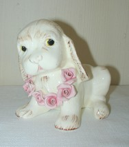 Spaniel Dog Puppy Planter Vase Ceramic Pottery Wildwood Pasadena Vintage... - $26.45