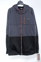 HIND Full Zip Hooded Mens JACKET size XL Gray Black/Gray Polyester, Soli... - $52.89
