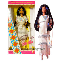 Year 1992 Dolls of the World Collection 12 Inch Doll - NATIVE AMERICAN Barbie - $79.99