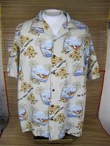 BIG DOGS Hawaiian ALOHA shirt pit to pit 27 XL Git er Done Tomorrow line... - $24.49