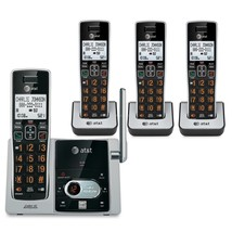 4 Handset Cordless Phone Big Button W Answering Machine Speakerphone Cal... - $112.99