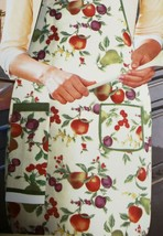 "Fabric Kitchen Apron with pocket & small towel, 23"" x 36"", COLORFUL FRUI... - $14.84"
