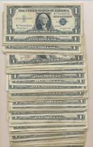 LOT OF (100) MIXED SILVER CERTIFICATES-1935/1957 MIX-VARIOUS CIRC. -SHIP... - $199.95