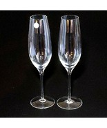 "2 (Two)  TIFFANY & CO CLASSIC Crystal 9"" U Shape Fluted Champagne Glasse... - $56.99"