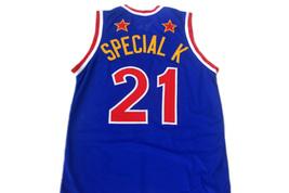 Kevin Special K #21 Harlem Globetrotters Men Basketball Jersey Blue Any Size image 2