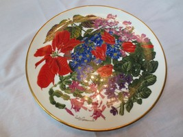 Franklin Mint Royal Horticultural Society Flowers of the Year plate Dece... - $20.00