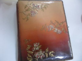 Antique Victorian Photo Album - Celluloid & Velvet Embossed flowers met... - $18.30
