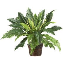 Marginatum w/Wicker Basket Silk Plant - $46.25