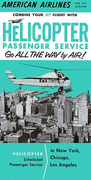 Primary image for American Airlines - Helicopter Passenger Service - 1959 - Promotional Poster