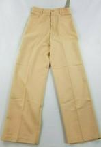 new J.CREW women pants 100% wool beige yellow Hong Kong made sz 10 - $31.80