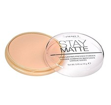 Rimmel London Stay Matte Long Lasting Pressed Powder, Silky Beige 0.49 oz (Pack  - $11.75