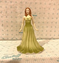 Royal Doulton Porcelain Figurine HN4977 August Peridot Gemstone Collection - $39.99