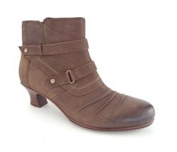 New Earth Size 10 Wayward Bark Brown Ruffle Vamp Ankle Boots - $55.00