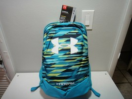 Under Armour Heatgear Boys Strom Scrimmage BackPack Color Aqua Blue Yellow - $43.67