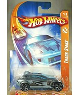 2008 Hot Wheels #111 Track Stars 11/12 ACCELIUM Gray w/Blue 5Y Spoke Wheels - $8.50