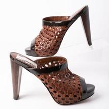 Cole Haan Women High Heels Mules Sandals Sz 8.5 Stephanie Brown Woodbury D337775 - $69.29