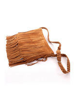 ac36B Celeb Style Vintage Hippie Boho Suede-like Fringed Shoulder Bagin ... - $27.90