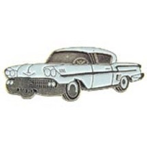 Chevy 1958 White Car Emblem Pin Pinback - $7.91