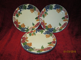 Staffordshire tableware chianti set of 3 dinner plates - $18.76