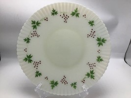 "Macbeth Evans Petalware Cremax Christmas 10.25"" Plate Dish Red Green Painted - $36.27"