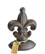 Lulu Decor, Cast Iron Fleur De Lis Door Stop, 2 Lbs, Door Stopper Brown - $14.31