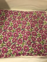 NEW HTF Creating New Traditions Purple Flowers 2 Yds.  Fabric Traditions... - $12.19