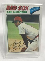 1977 Topps Carl Yastrzemski Boston Red Sox #480 Baseball Card with Stand - $14.23