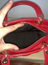 AUTH Christian Dior Lady Dior Medium RED Cannage Lambskin Tote Bag GHW image 11