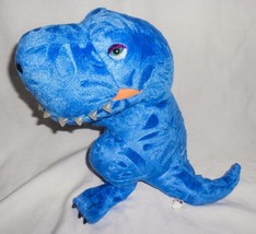 Manhattan Toy Blue Dinosaur Tyrannosaurus Rex T-Rex Plush Stuffed Animal... - $14.81