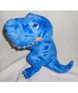 Manhattan Toy Blue Dinosaur Tyrannosaurus Rex T-Rex Plush Stuffed Animal... - $14.81