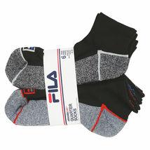 FILA Men's 6 Pack Classic Sport Athletic Gym Moisture Control Absorb Dry Socks image 13