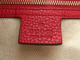 GUCCI Shoulder Bag Leather Red 2Way Soho Interlocking G 536194 Italy Authentic image 9
