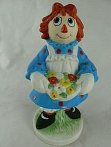 "Vintage Raggedy Ann Porcelain Figurine By Flambro 6""  - $14.84"