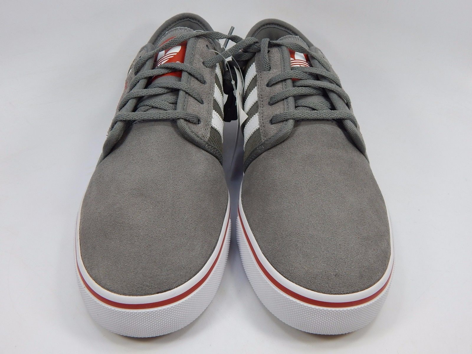 Adidas Seeley Men's Casual Skate Shoes Size 10 M (D) EU 44 Gray Red Q33416
