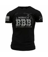 New GRUNT STYLE BBB BETTER BEARDS AND BOURBON T Shirt  MERICA - $21.95+