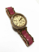 Michael Kors MK6573 Mini Parker Gold and Pink Wrist Watch for Women - £59.35 GBP