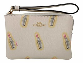 Coach PVC Small Wristlet With Lipstick Print Style No. C3338 Chalk