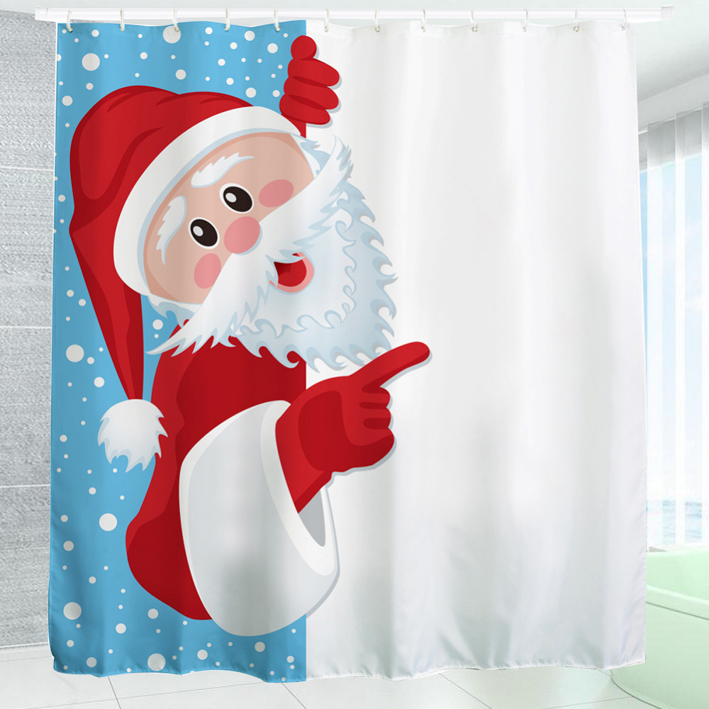 2016 Waterproof Christmas Naughty Santa Polyester Shower Curtain  Bath Bathing S