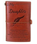 Diary To My Daughter Engraved Journal Notebook Love Dad Blank Note Book Lined - $17.44