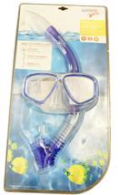 Speedo Dive Junior Reef Scout Mask + Snorkel Combo Ocean Blue Ages 6-14 NEW