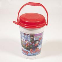 Mickey Minnie Mouse Donald HAPPY HOLIDAYS Souvenir Popcorn Bucket Disney Parks - $12.95