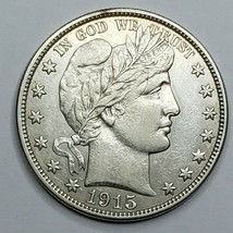 1915S San Francisco Mint Silver Barber Half Dollar Lot 519-130
