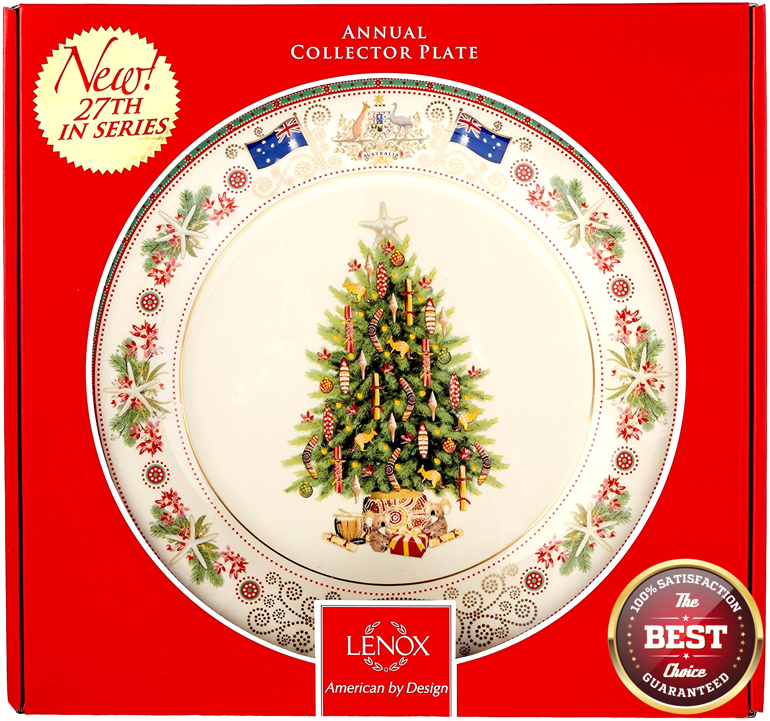 Lenox 2017 Trees Around The World Plate Australia Annual Collector Christmas NEW